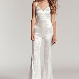 NWT Free People Silver Crush Jumpsuit